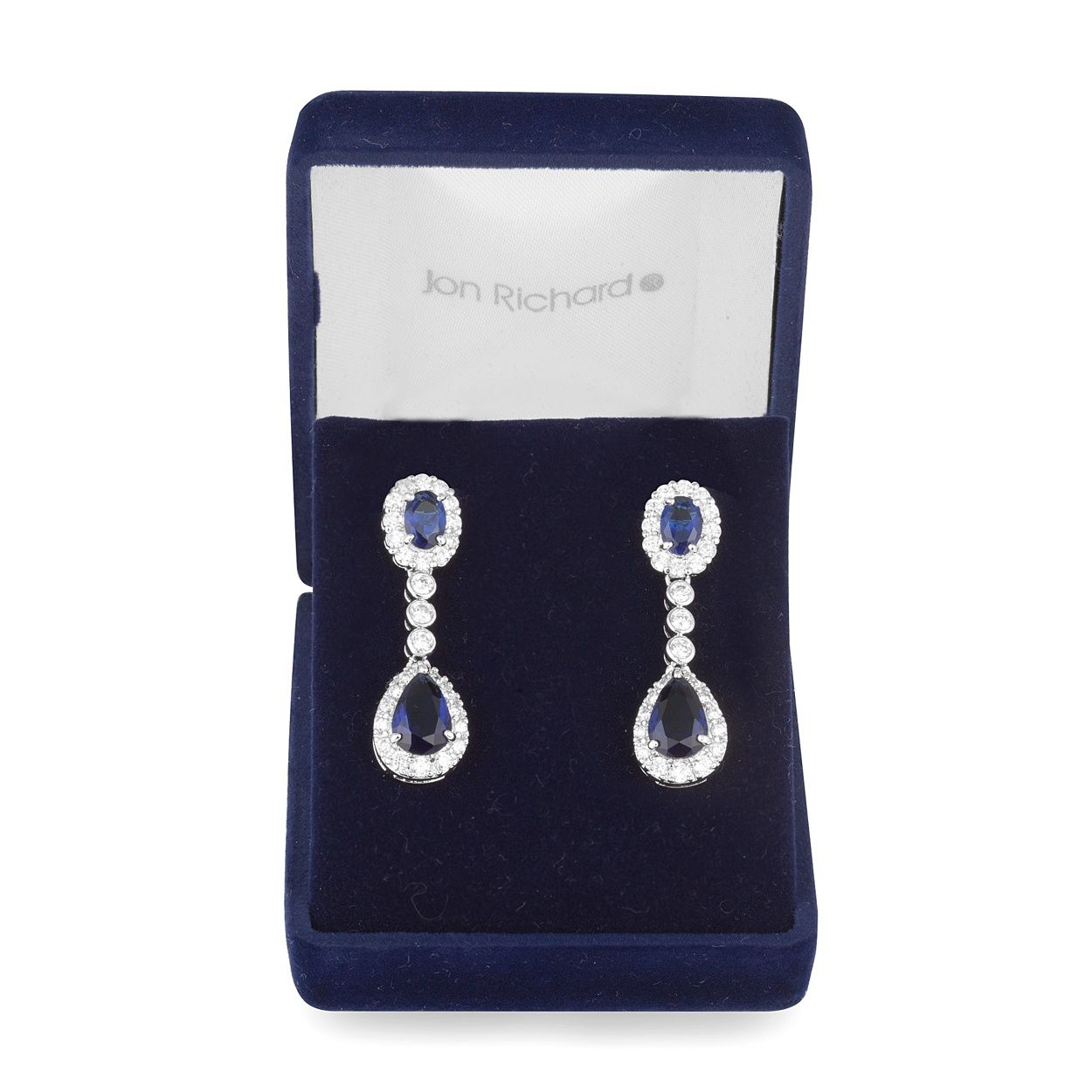 Jon Richard Cubic Zirconia Crystal Blue Drop Earring At Debenhams