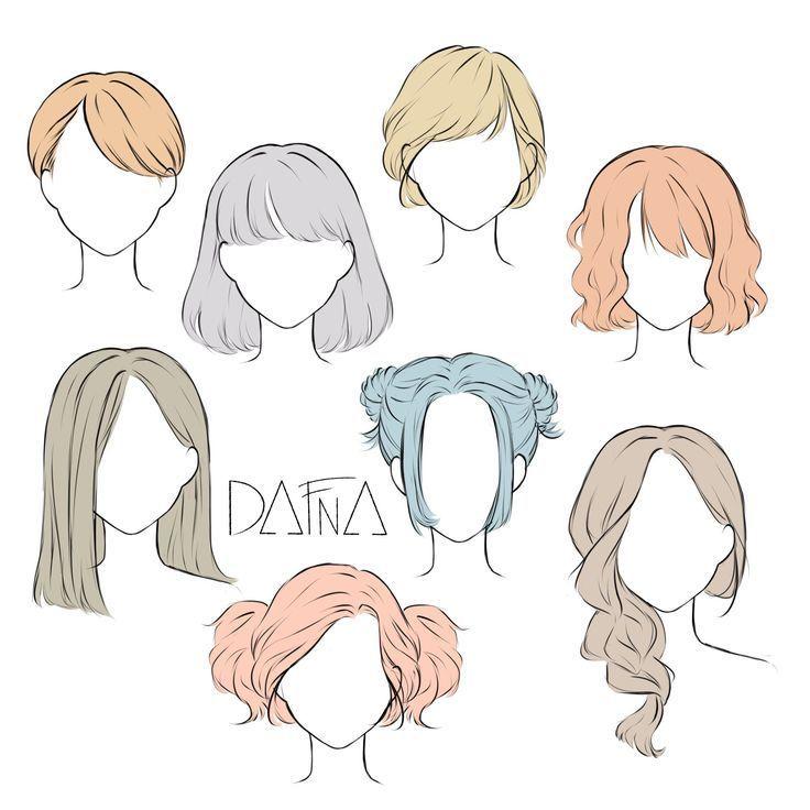 Drawing Tutorial Hair Girls Anime Hairstyles 50 Ideas Anime Drawing Girls Hair Hairstyles Ideas Tutori In 2020 Drawing Hair Tutorial Girl Hair Drawing Manga Hair