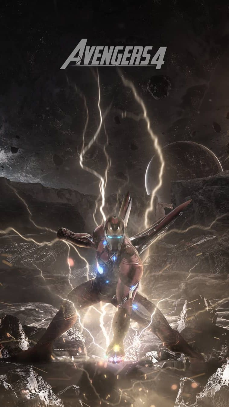 Avengers Endgame Iron Man Poster Iphone Wallpaper Iphone