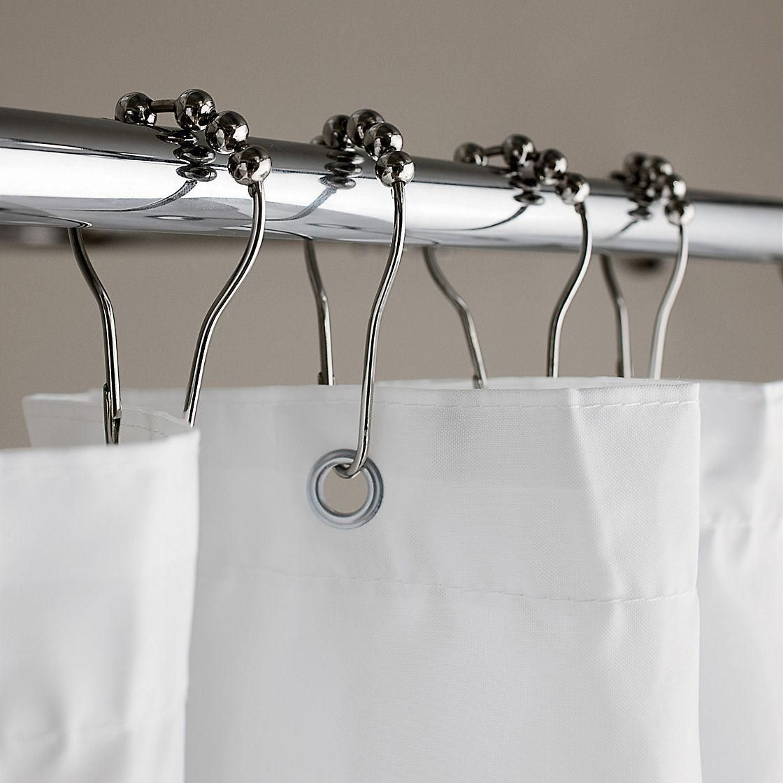 Roller Shower Curtain Hooks Set Of 12 At The Company Store Bath