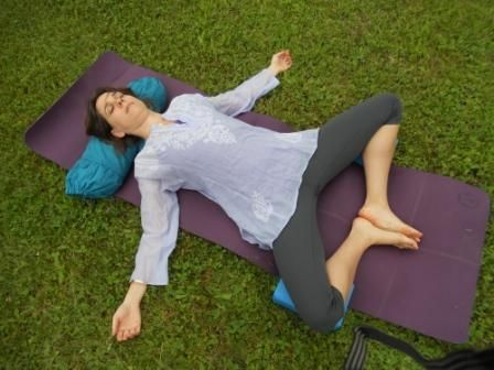 pre  post transfer  gentle poses to open and calm
