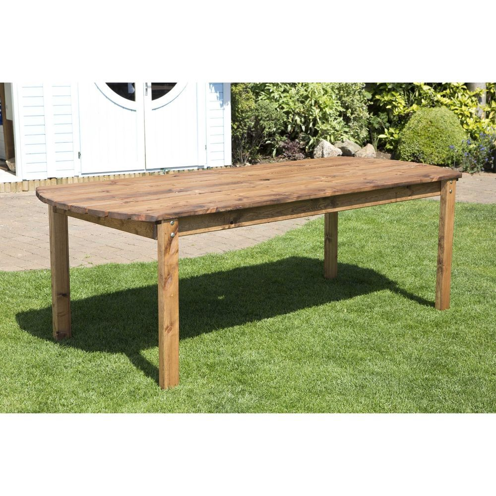 8 Seater Rectangular Garden Dining Table Lawn Patio Outdoor Wooden Furniture