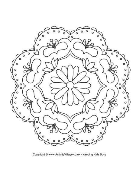 Rangoli colouring page 3 (Diwali) | Around the world | Pinterest ...