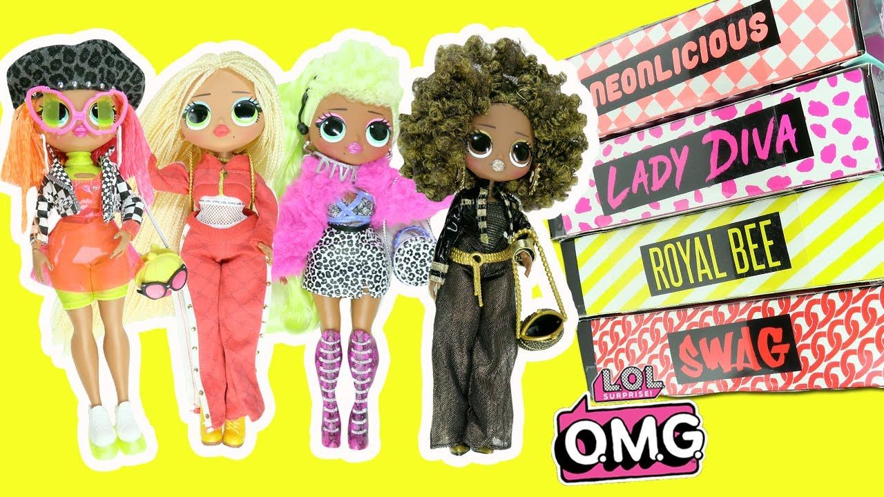 Lol Surprise Omg Fashion Dolls Complete Set Opening Royal Bee Neonlicious Lady Diva Swag Fashion Dolls Best Kids Toys Dolls