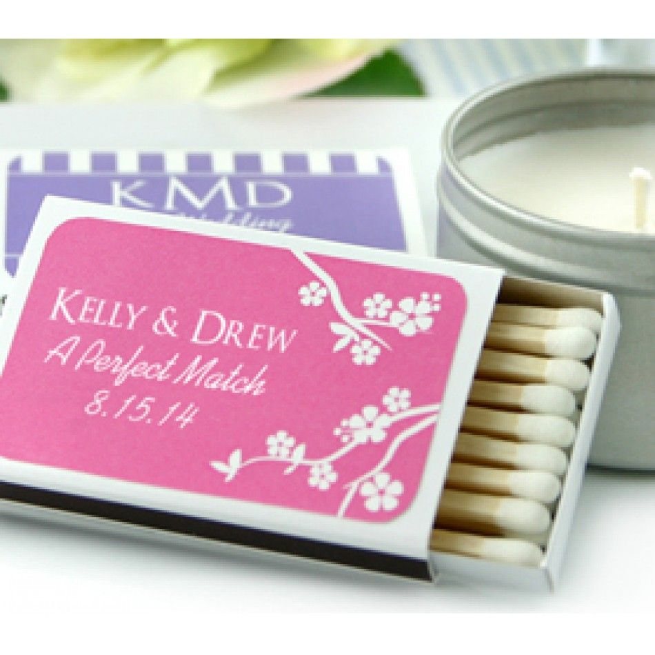 White Personalized Matchboxes Wedding Favors (Set of 50) [337 ...