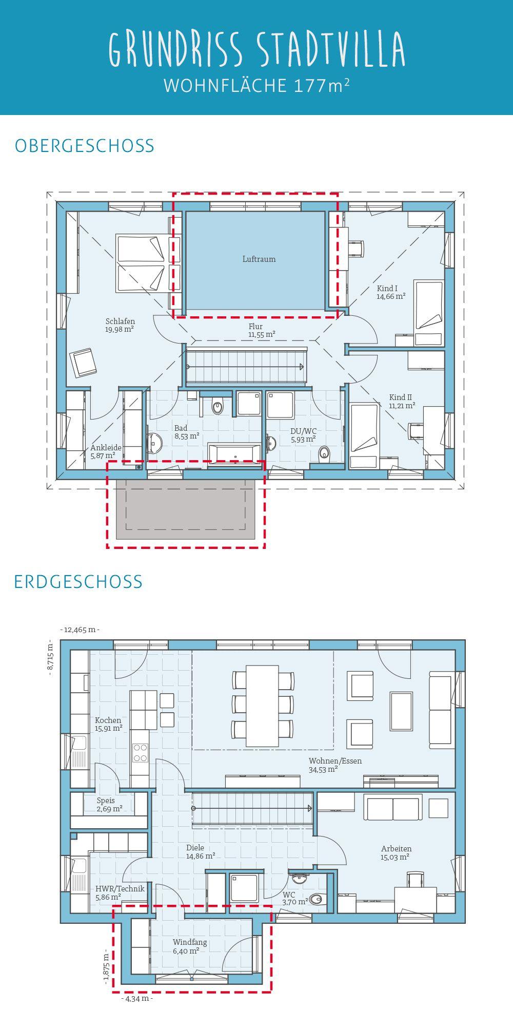 Grundriss Fertighaus Stadtvilla 183