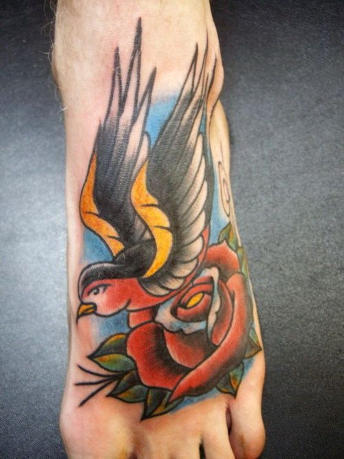 Tattooed foot