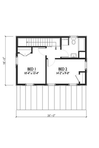 514-13  936 Square feet.    Designed by Marianne Cusato.  One of the Katrina Cottages