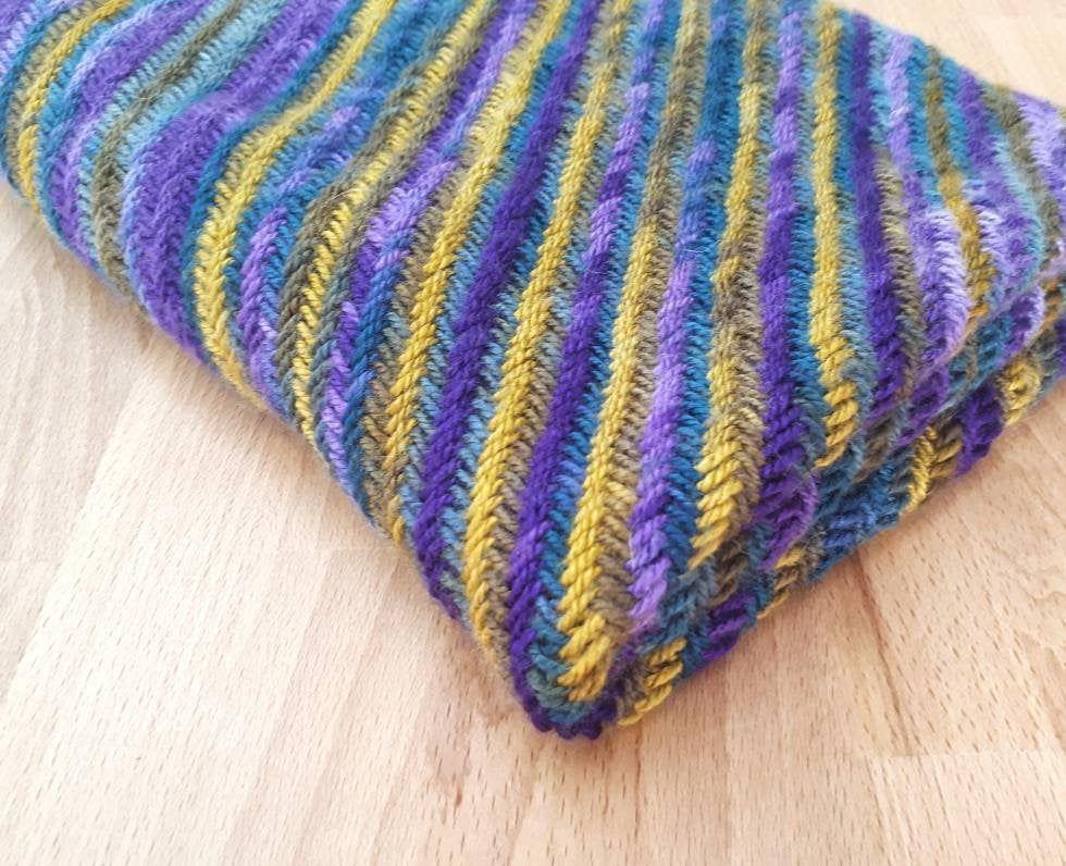 C2c herringbone knit blanket pattern corner to corner