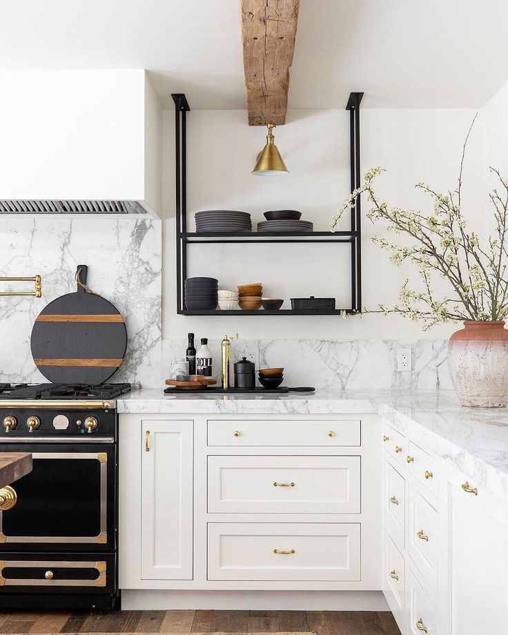 Apartment Therapy On Instagram Those Shelves Image Nicolediannephoto Design Designshopinter Kitchen Interior Interior Design Kitchen Kitchen Remodel