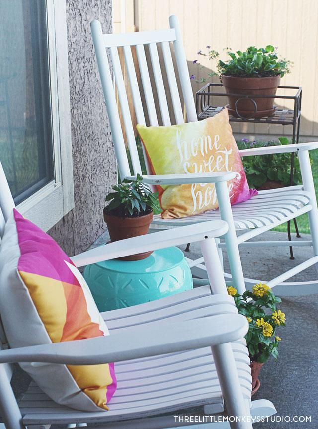Wonderful Freshen Up Your Front Porch Decor For Summer In 5 Easy Ways To Create An  Outdoor Design Ideas