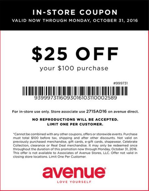 Check Out Offers From Avenue Using Geoqpons App On Your Phone Visit Www Geoqpons Com Clearance Deals Store Coupons Printable Coupons