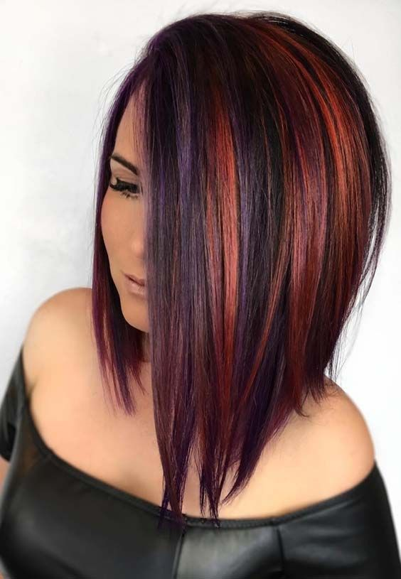 52 Amazing Hair Color Blends for Sleek Medium Haircuts for ...
