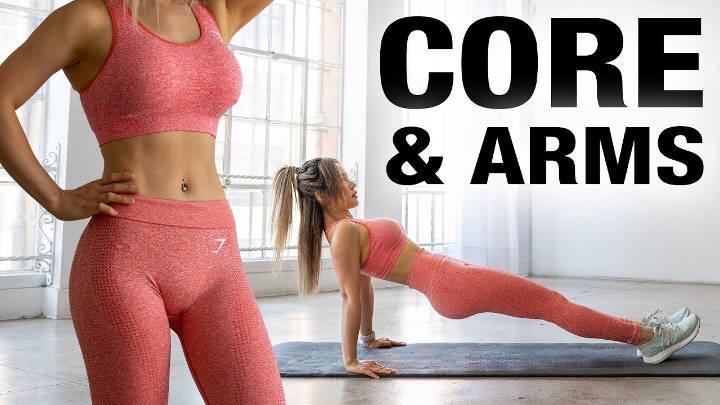 Tight Core & Arms Workout | Free workout programs, Chloe ...