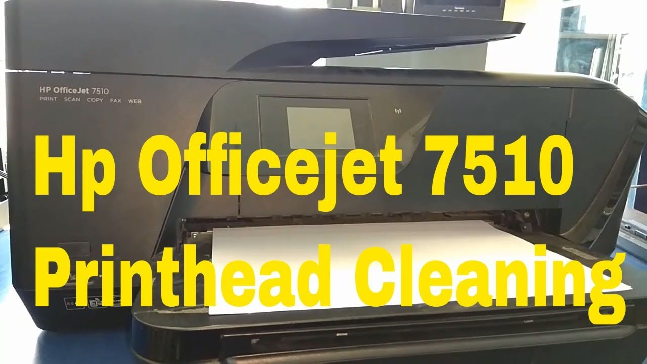 hp officejet 7510 printhead cleaning | how to fix | Hp