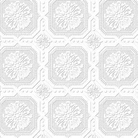Paintable Tile Wallpaper   Allen + Roth Paintable Ceiling Tiles Wallpaper