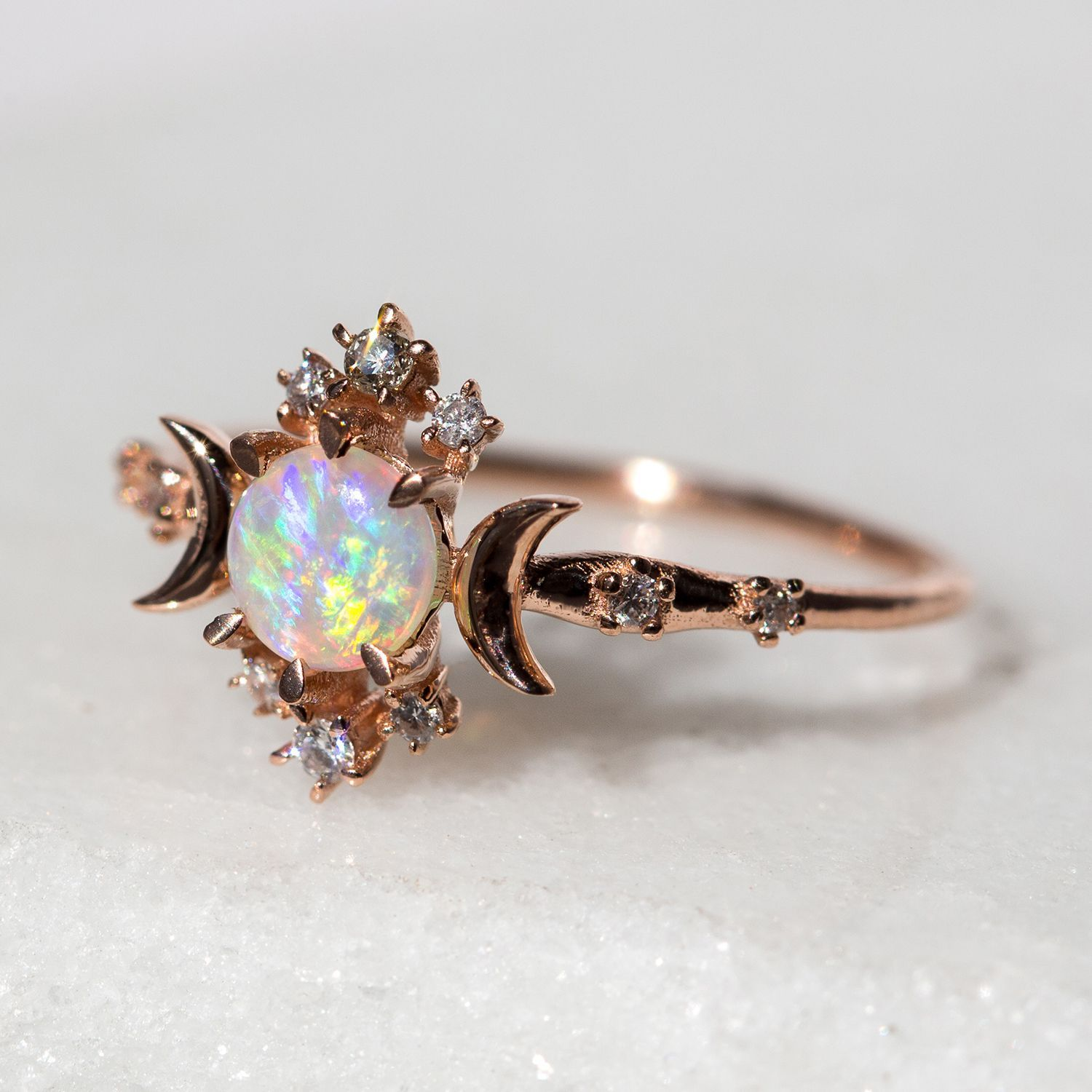 Star Opal Ring By Catbird I Love This Sailor Moon Style Engagement Goth: Gothic Style Wedding Rings Etsy At Reisefeber.org