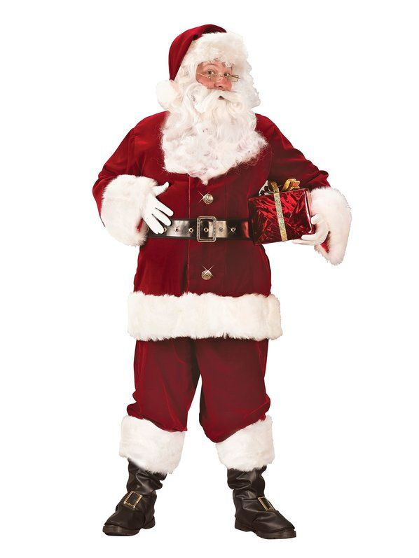 Halloween Santa Old Time Deluxe - Adult Costume