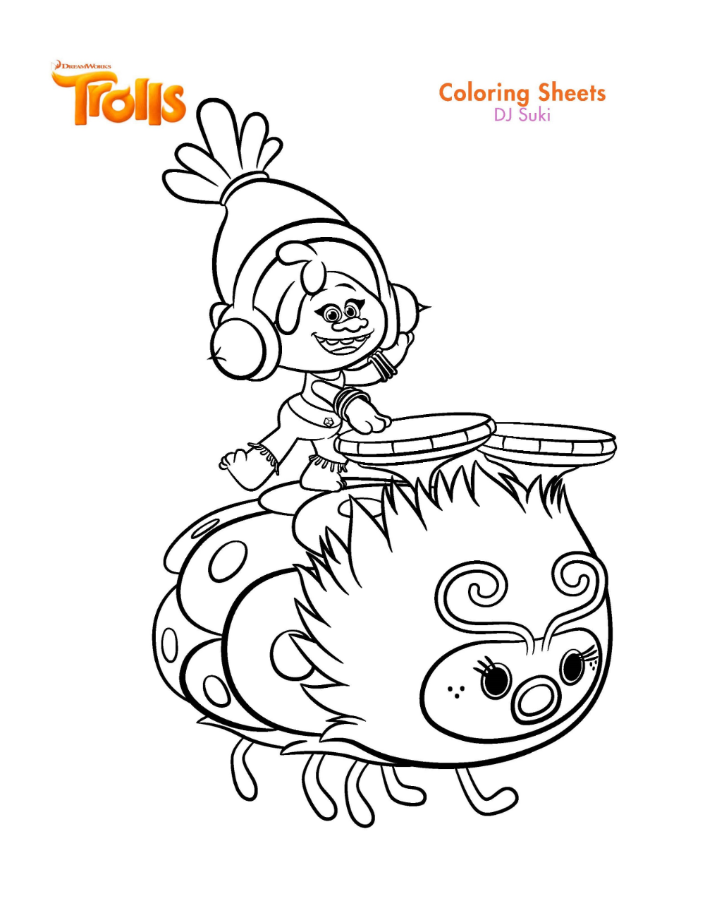 Trolls Coloring Pages Printable Shelter Poppy Coloring Page Cartoon Coloring Pages Disney Coloring Pages