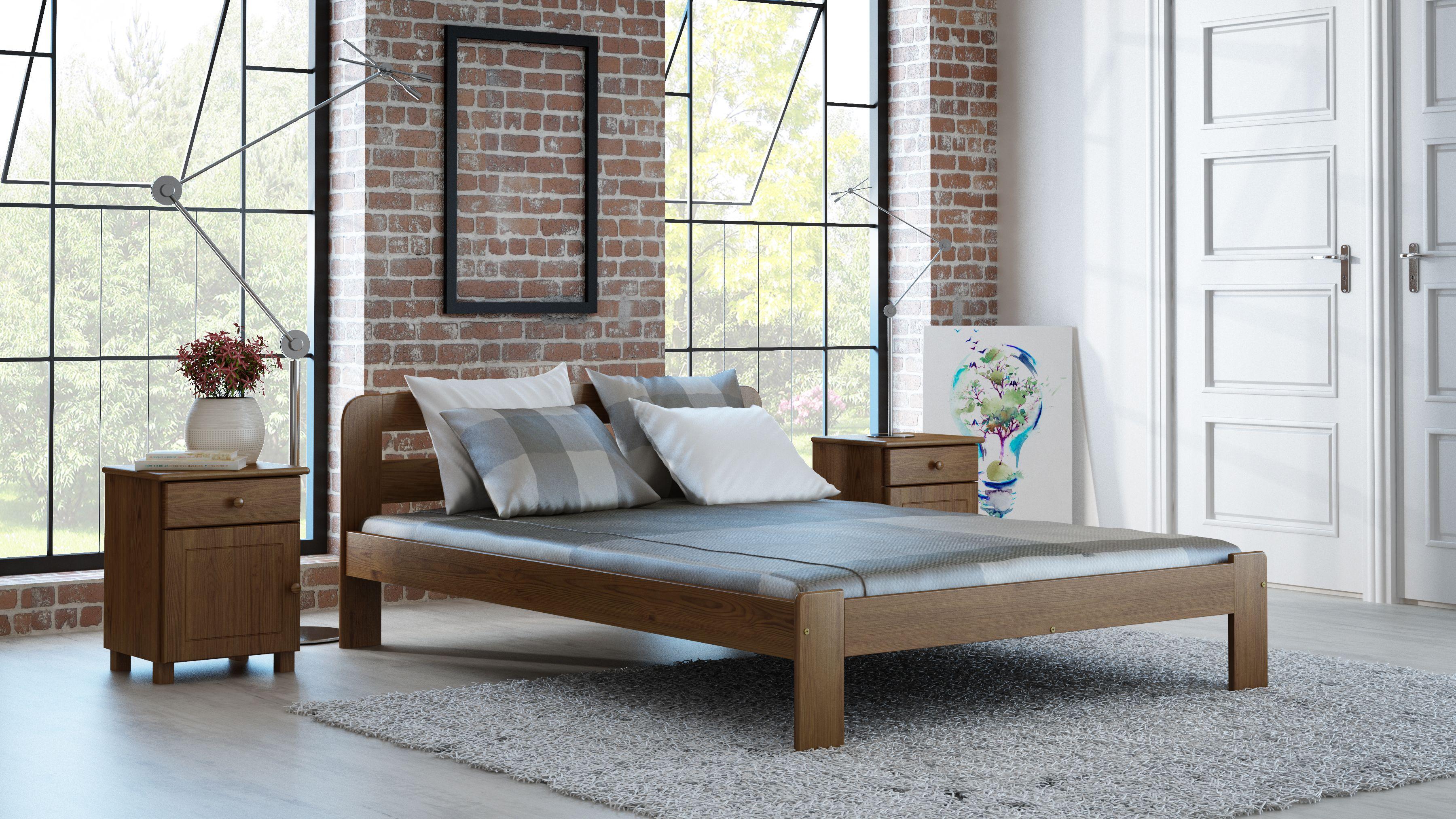 Wie Gefallt Euch Diese Einrichtungsidee Mit Unserem Bett Das Holzbett Wurde Aus Massiven Holz Schlafzimmer Einrichten Bett Mit Lattenrost Outdoor Dekorationen