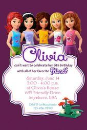 LEGO FRIENDS Birthday Party Invitation – Completely Customized ##birthday #compl…