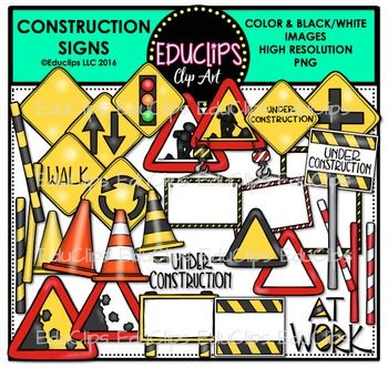 This is a collection of construction road signs. The signs in this set include traffic light, passing (overtaking), traffic circle (roundabout), junction (crossroads), rocks falling, walk, at work, under construction and a variety of blank signs for you to add your own choice of words.  44 images (26 in color and 18 in B&W)