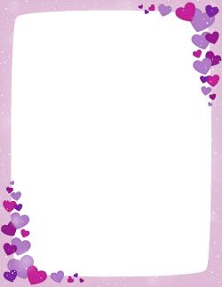 purple valentine border page borders pinterest clip art
