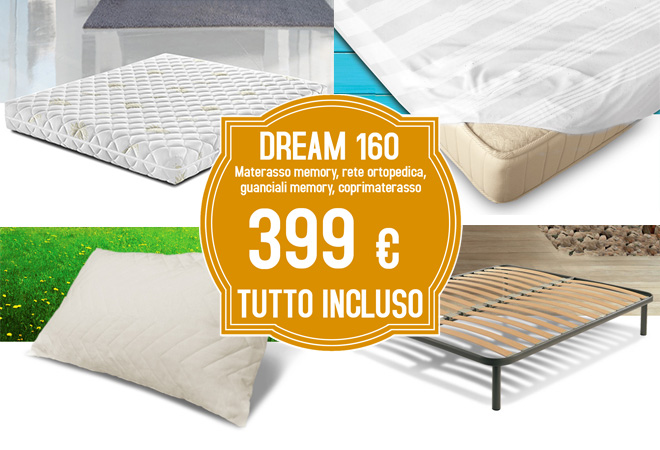 Materassi E Reti On Line.Dream New 160 Materasso Reti Da Letto E Rete