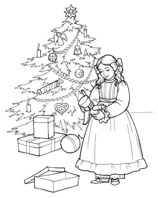 Nutcracker Clara And Her Coloring Page
