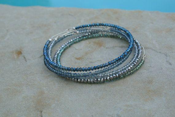 Dainty Crystal Bracelets in a Variety of Colors - Elegantly Summer via Etsy