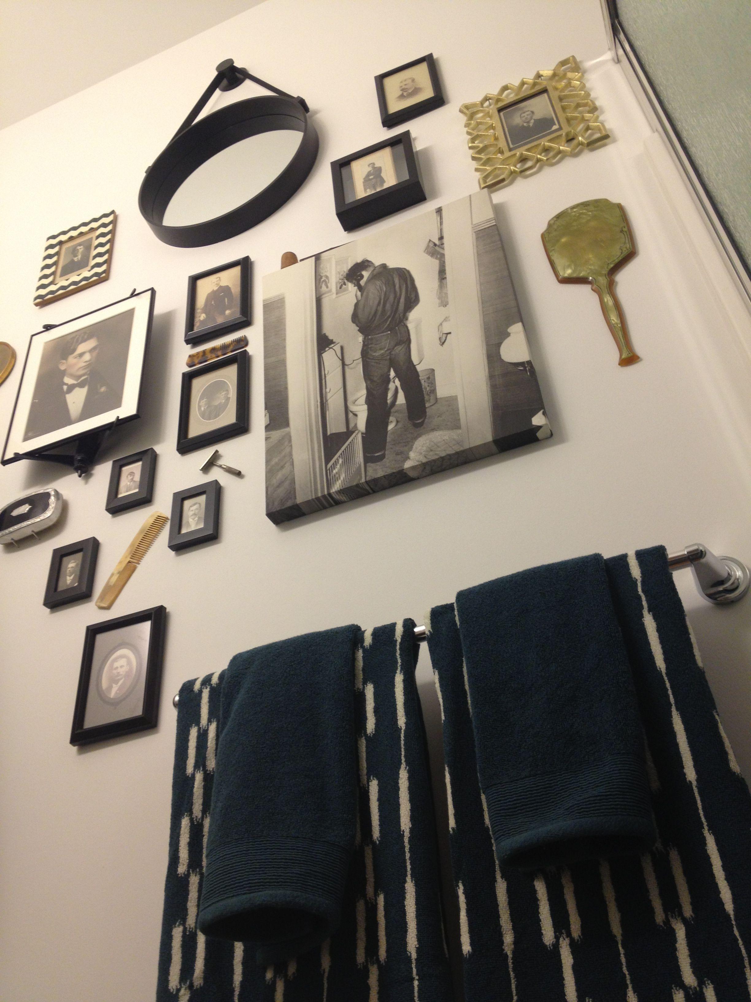 Bathroom Decorating Ideas Men modern, vintage, hipster, mens, grooming, bathroom, decor | home