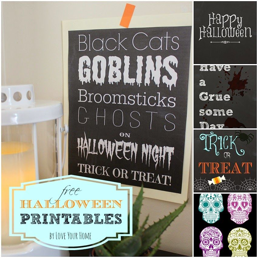 LOVE YOUR HOME > > > : Free Halloween Printables