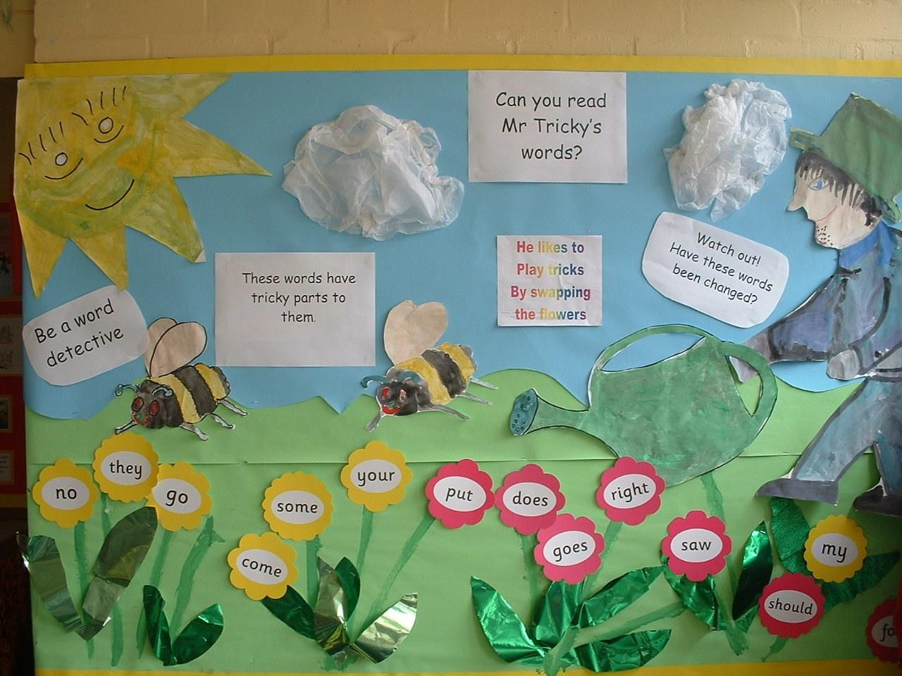 Jolly Phonics Tricky Words Display