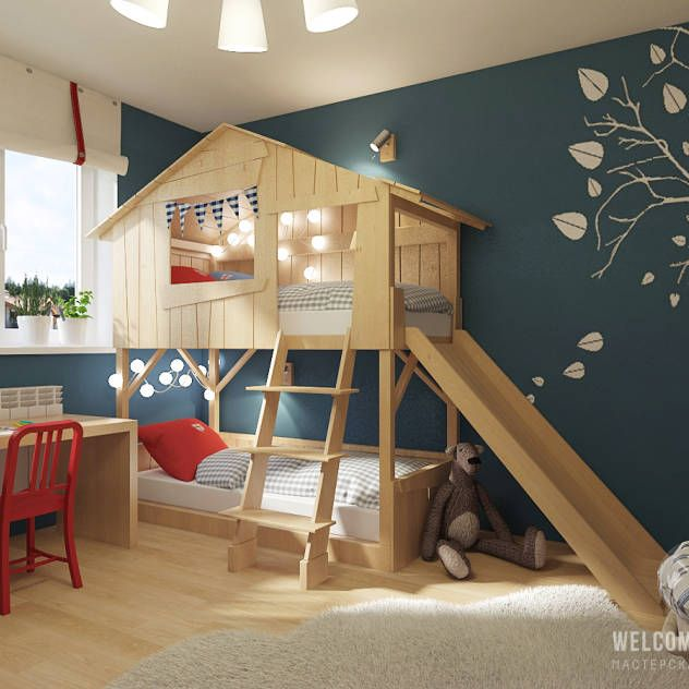 Fotos de decoração, design de interiores e reformas  아이 방, 침대 및 ...