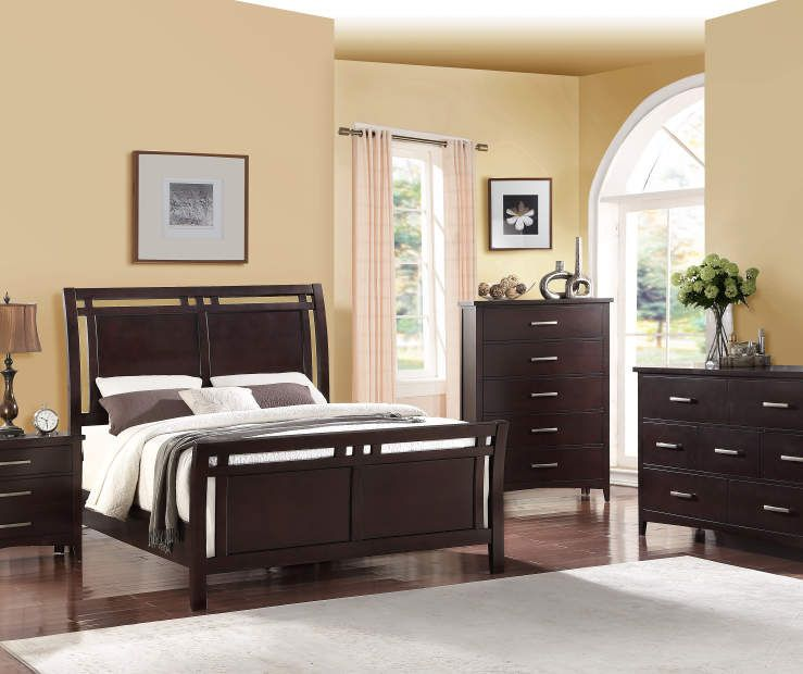 Magnificent Stratford Hamilton Espresso Queen Bedroom Collection Big Home Interior And Landscaping Ologienasavecom
