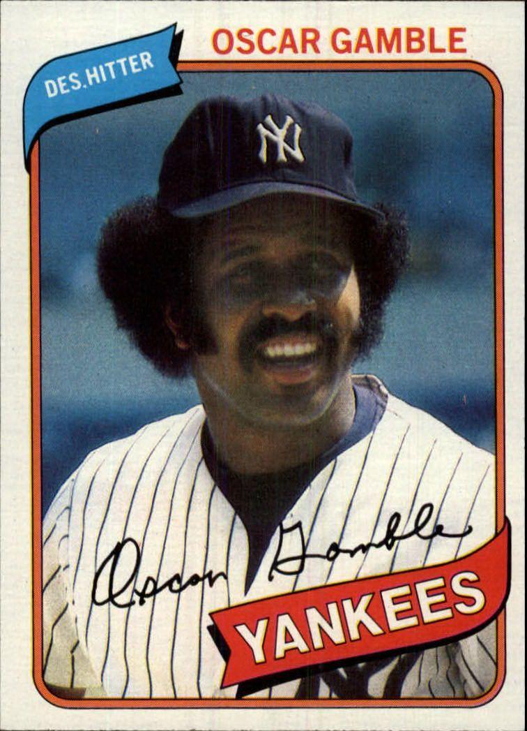 1980 Topps 698 Oscar Gamble Oscar gamble, Yankees, Play