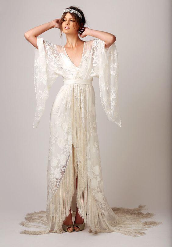 el estilo de los vestidos de novia hippies, han ido cada vez