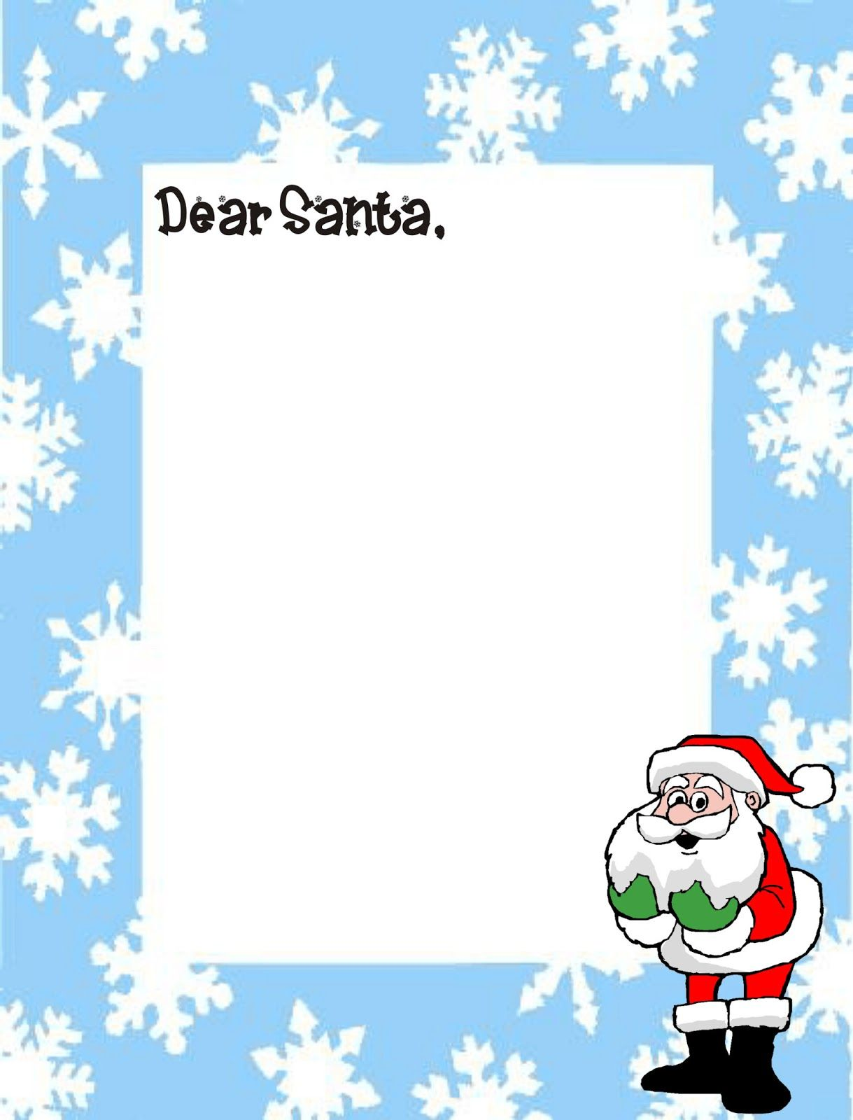 DearSantaLetterTemplateJpg   Printable  Holidays