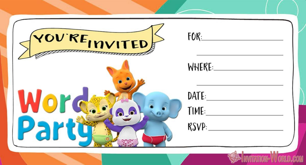 Word Party Invitation Cards With Images Party Invitations