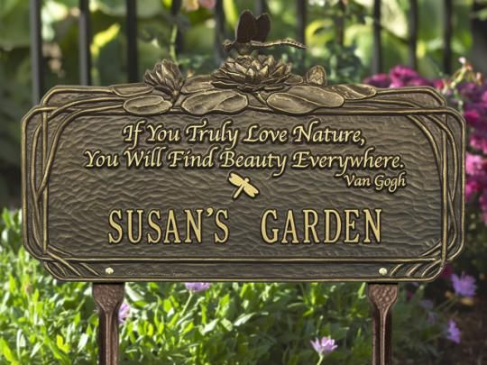 Whitehall Products Dragonfly Poem Personalized Garden Plaque Finish Choice    Garden Signs U0026 Decor   Whitehall Products   Home And Patio Decor Center