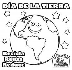Dia De La Tierra Para Colorear Nocturnar Elementary Spanish Preschool Spanish Elementary Lesson Plans