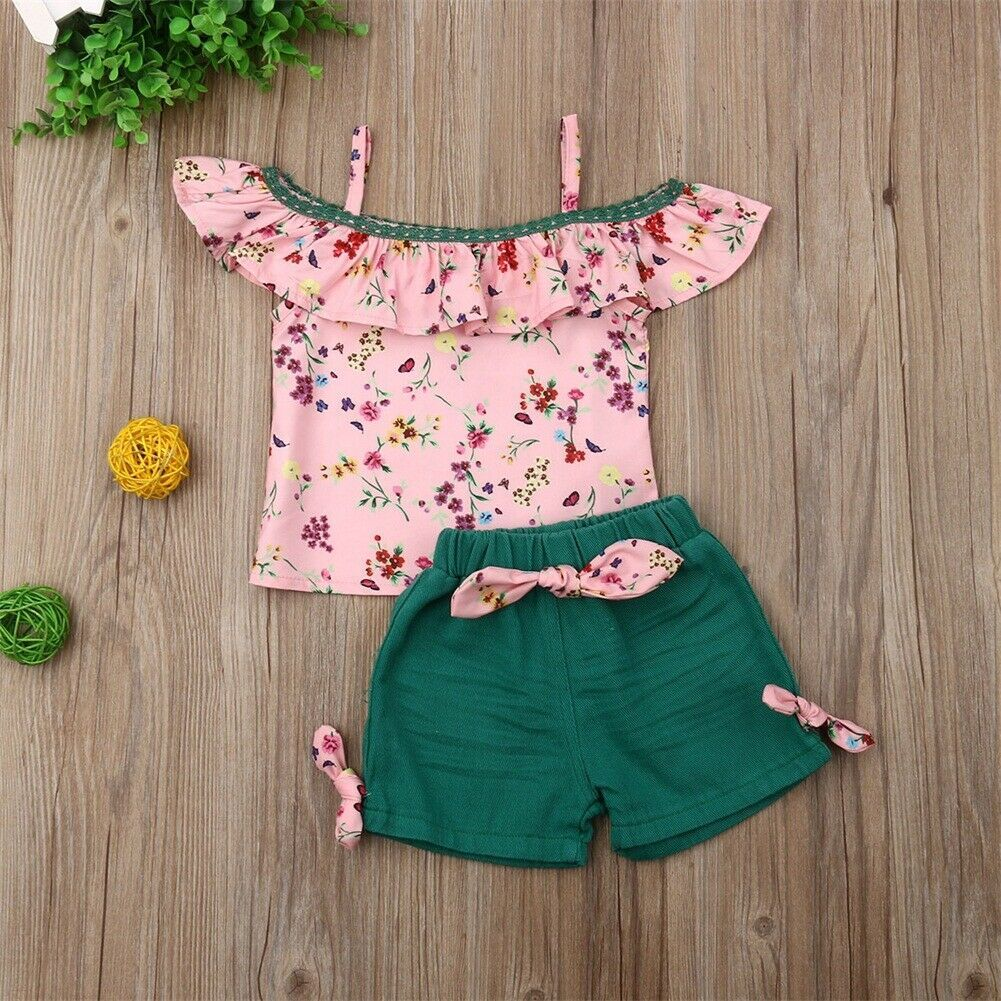 New Baby Little Girls Kids Bottoms Ruffle Multi Color Shorts 1 2 3 4 5 6 7 8Year