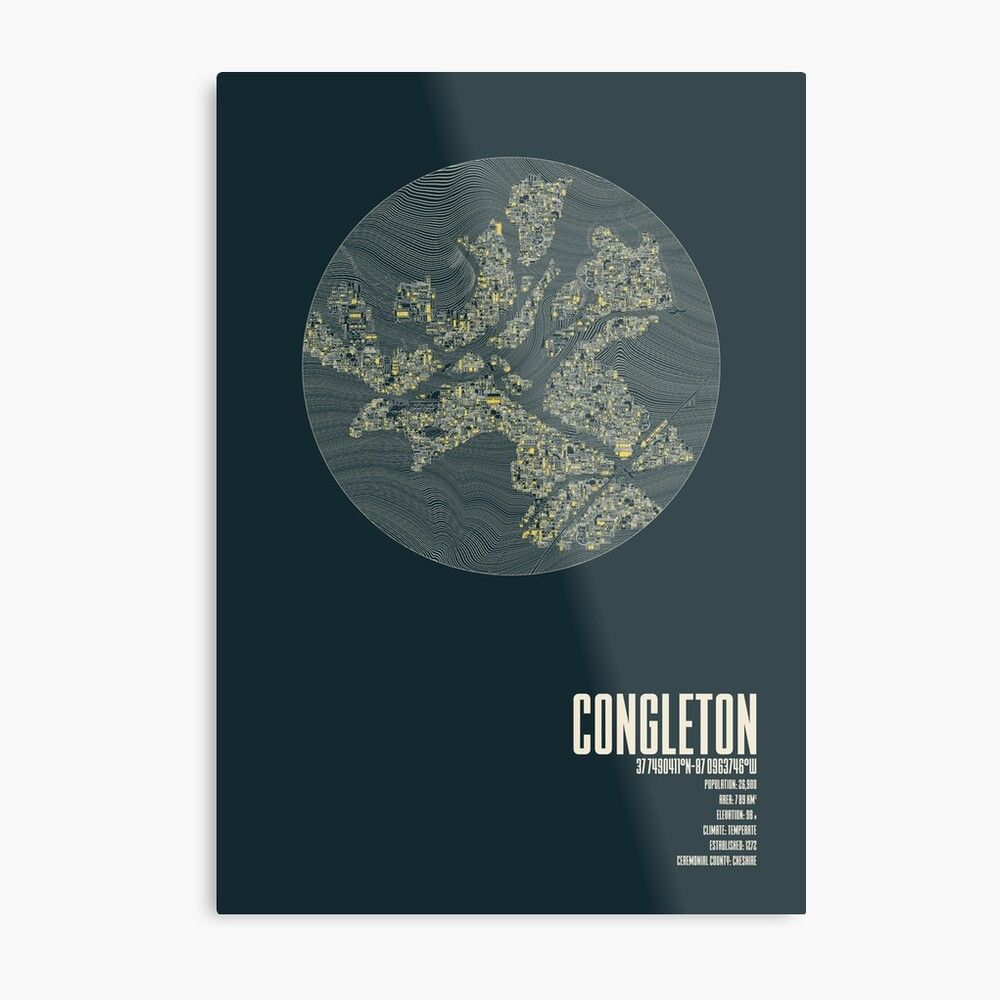#congleton #cheshire #coordinate #weather #elevation #population #poster #localart