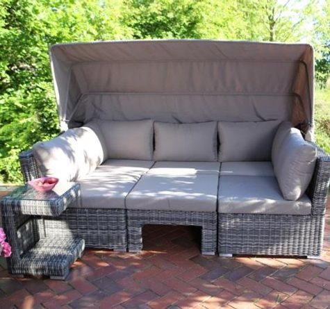 looms polyrattan gartenm bel pforzheim rattan lounge. Black Bedroom Furniture Sets. Home Design Ideas