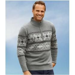Photo of Strick-Pullover Nordic Snow mit Jacquardmuster Atlas For Men