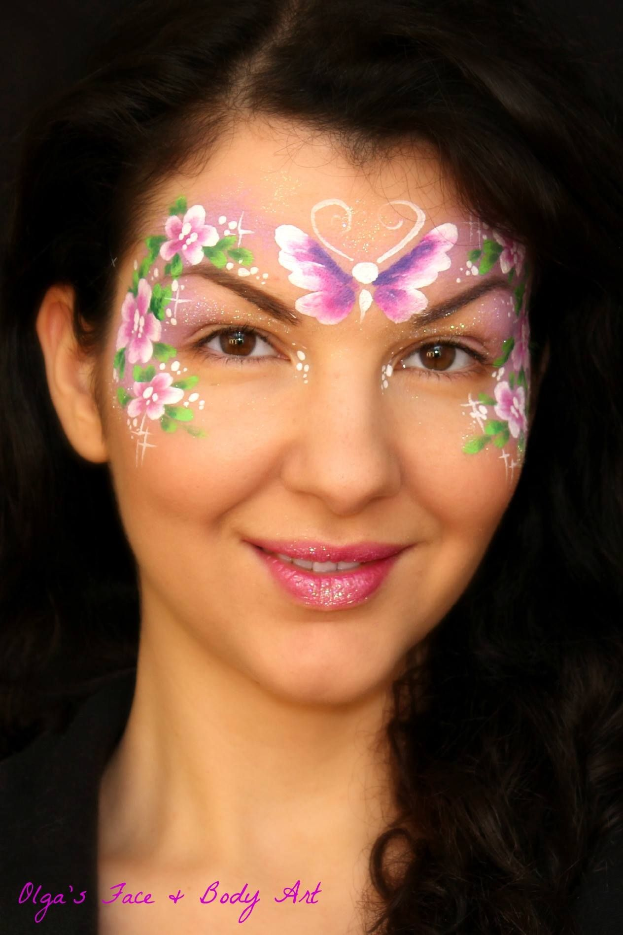 Fast and easy Flower Fairy Mask Face painting designs