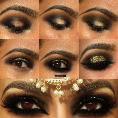 10 Best Arabian Eye Makeup Tutorials With Step By Step Tips Arabic Eye Makeup Smokey Eye Makeup Eye Makeup Tutorial