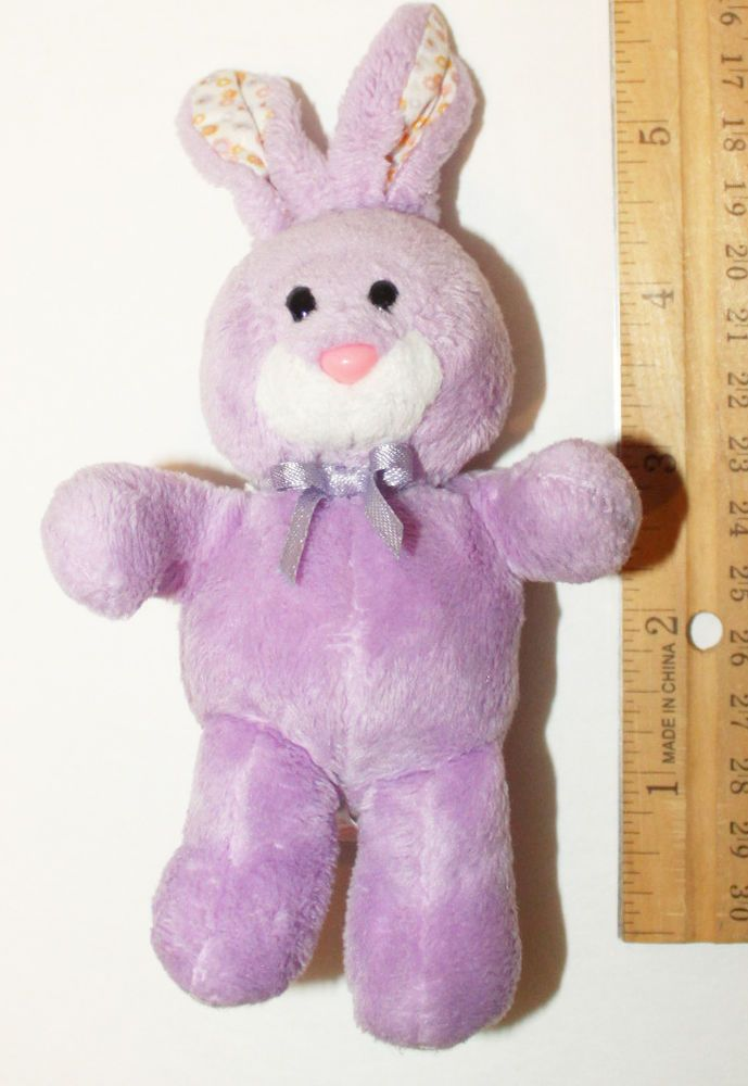 "BLOOM TY BASKET BEANIE BABY PURPLE EASTER BUNNY 6"" TOY PLUSH BEAN BAG  FIGURE  Ty c2b3dc10ab01"