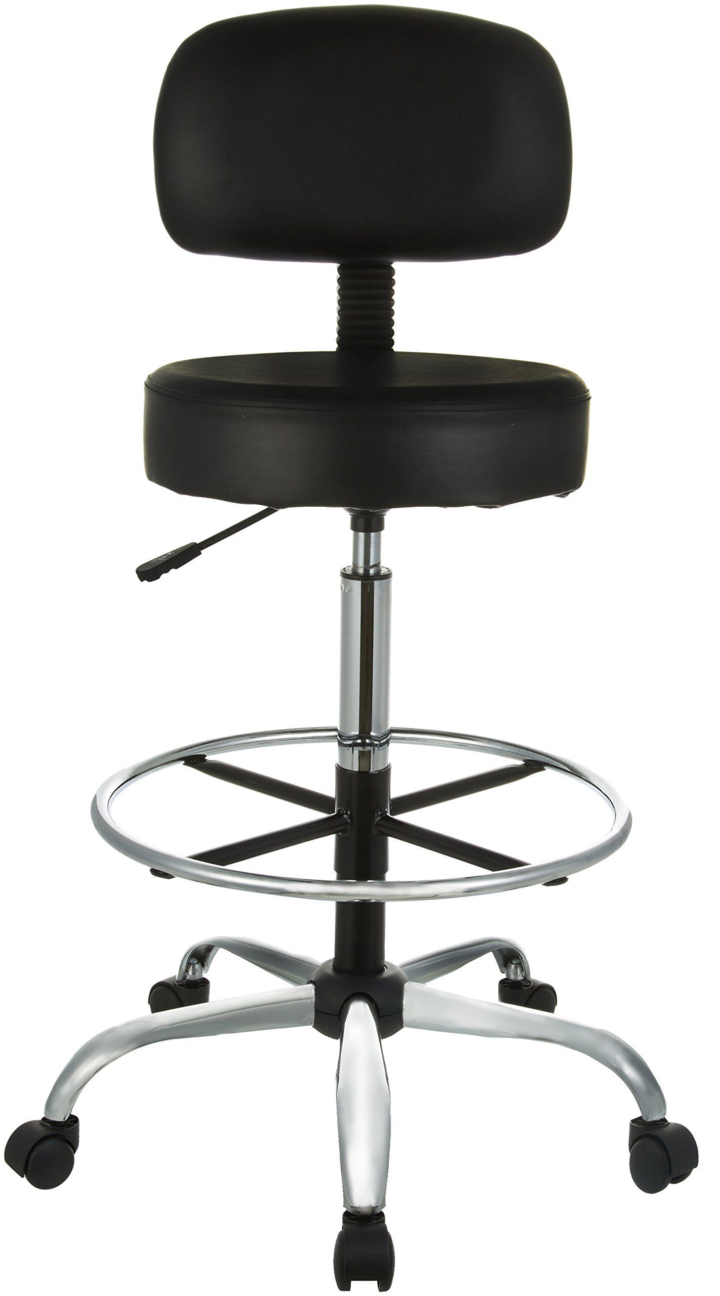 Amazonbasics Drafting Stool With Adjustable Foot Rest Black For More Information Visit Image Link It Is An Affili Kitchen Fixtures Foot Rest Office Chair