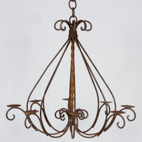 Wrought Iron Braided Candle Chandelier Candelabra Doesnotapply
